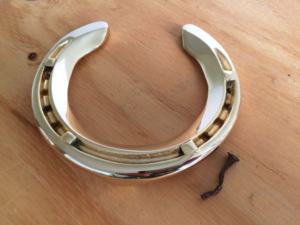 Southern Boy's Horseshoe Finished in 24ct Gold