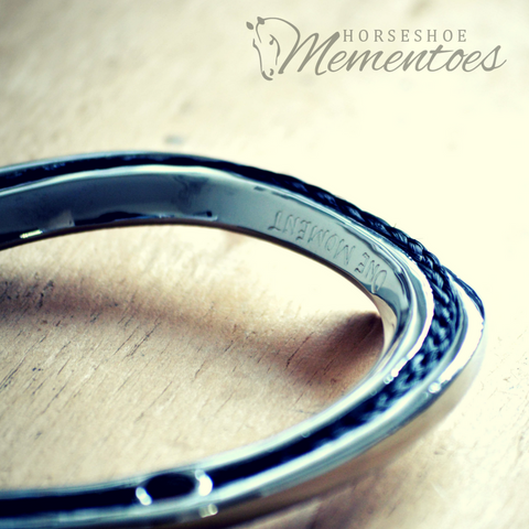 One Moment's Engraved Horsehair Horseshoe Memento