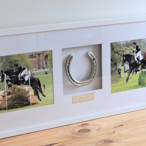 Julia Hadley and Joseph Samuel's Framed Horseshoe Memento Alignment