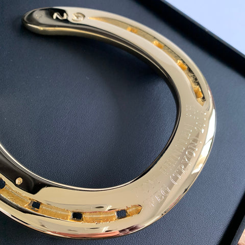 Vom Feinsten's World Equestrian Games Gold Horseshoe Memento