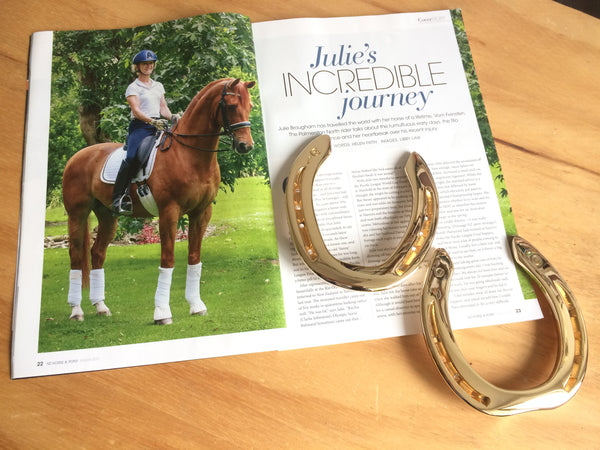 NZ Horse & Pony Magazine with Steiny's Olympic Horseshoe Mementoes