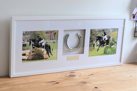 Julia Hadley's Framed Horseshoe Memento: Memories of Joseph Samuel