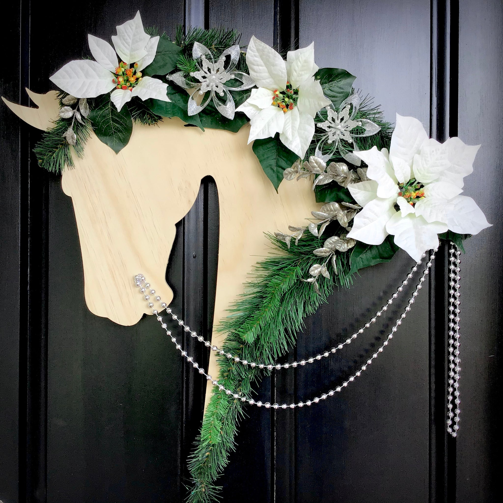 Horse Christmas Wreath: Angel - Horseshoe Mementoes