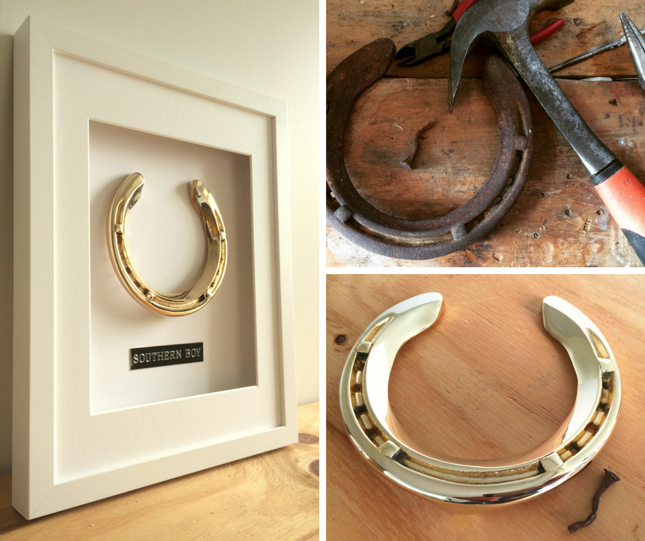 Framed Horseshoe Memento - Horseshoe Mementoes
