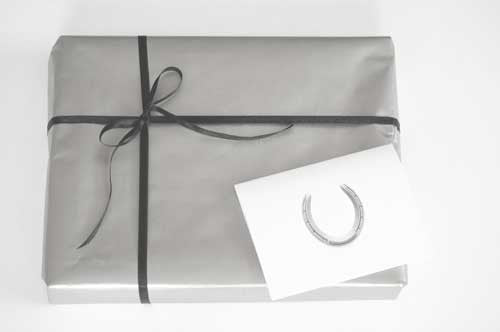 Gift Wrap, Ribbon and Greeting Card - Horseshoe Mementoes