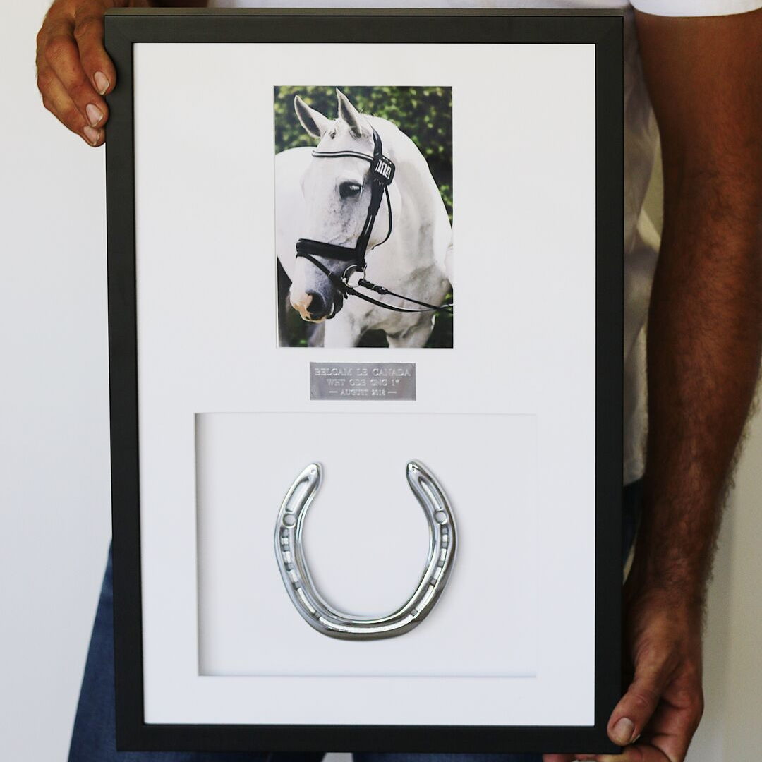 Framed Horseshoe with Photo - Horseshoe Mementoes