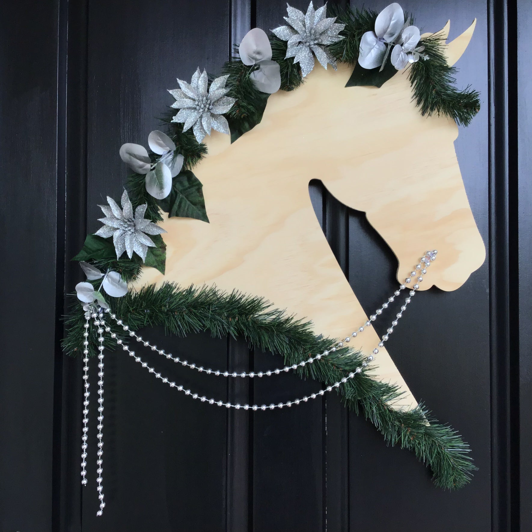 Horse Christmas Wreath: Sparkles - Horseshoe Mementoes