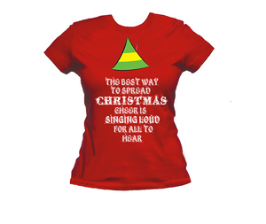 Elf t shirt. Buddy the Elf. Christmas cheer t-shirt