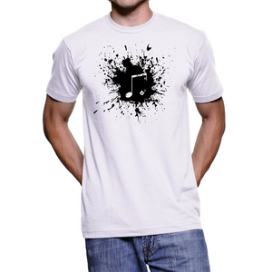 Music Note T-shirt Paint Tees