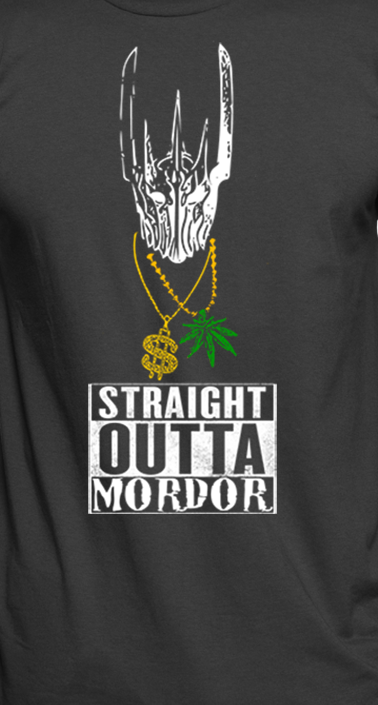Lord of the Rings t-shirt. Sauron the Gangster