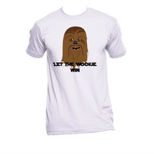 Let the wookie win. Star wars movie t-shirt