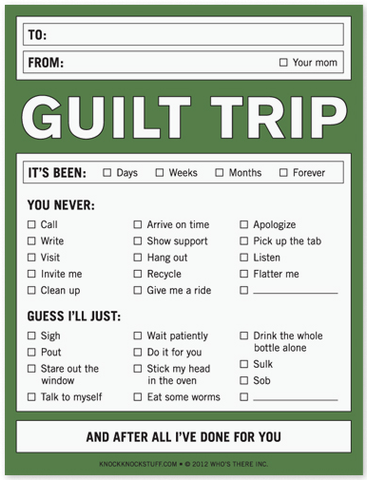 Guilt Trip Nifty Notes