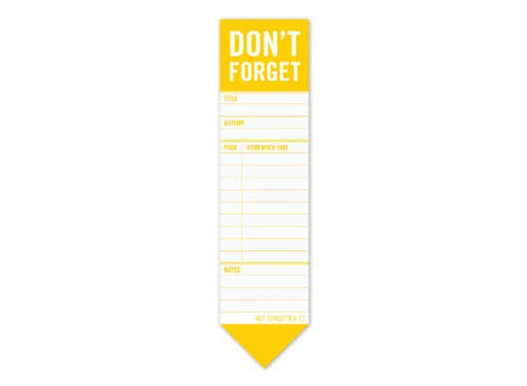 Don't Forget Bookmark Pad