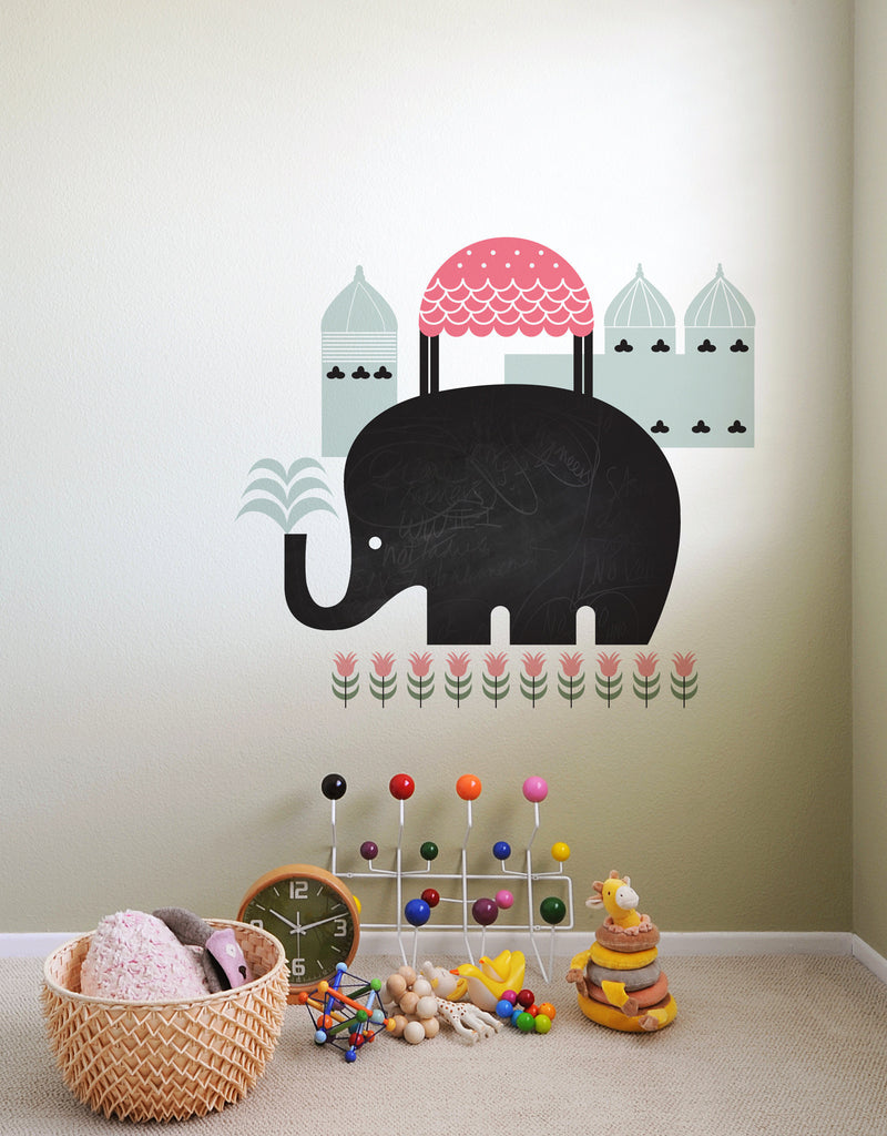 Asian Elephant | Chalkboard