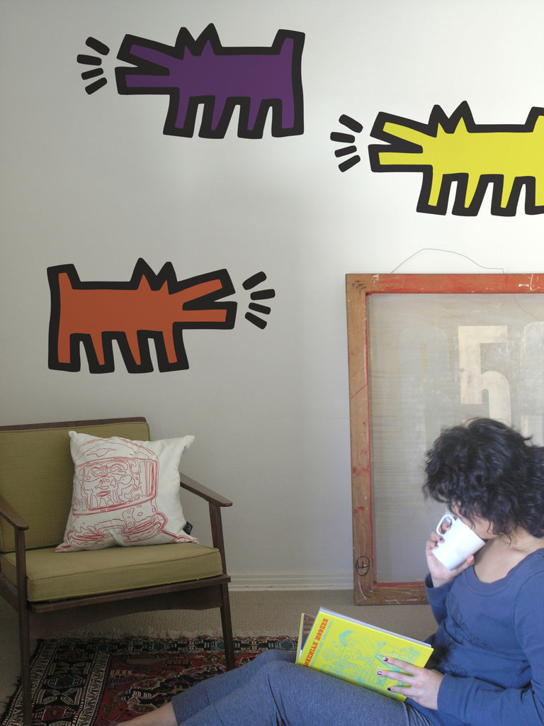 Keith Haring | Barking Dogs in Colour