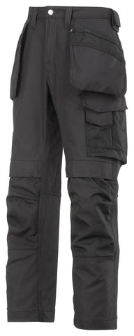 3214 (Black-Solid) Craftsmen Holster Pocket Trousers - Canvas
