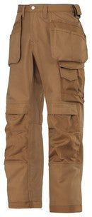 3214 (Brown and Grey-Solid) Craftsmen Holster Pocket Trousers - Canvas