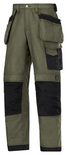 3214 (Olive Green and Steel Grey) Craftsmen Holster Pocket Trousers - Canvas