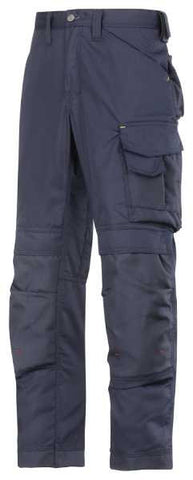 3311 (Grey and Navy-Solid) Craftsmen Trousers - CoolTwill