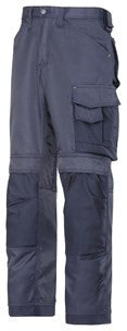 3312 (Grey and Navy-Solid) Craftsmen Trousers - DuraTwill