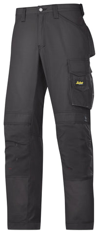 3313 (Black- Solid and Grey/ Black 2 Tone) Craftsmen Trousers - Rip-Stop