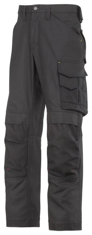 3314 (Black and Brown- Solid) Craftsmen Trousers - Canvas