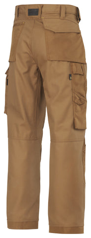 3314 (Khaki and Steel Grey- 2 Tone) Craftsmen Trousers -  Canvas