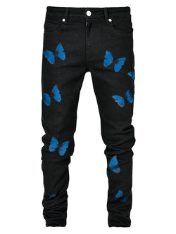 Butterfly Skinny Denim - Black