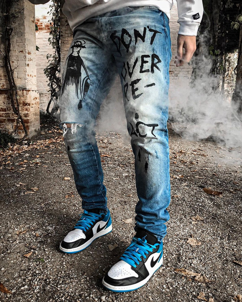 Hand Painted Denim