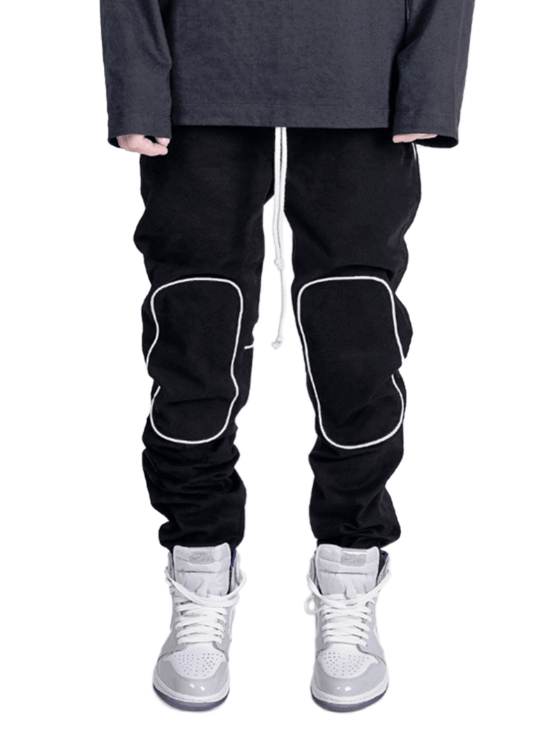 Knee Patch Pants - Black
