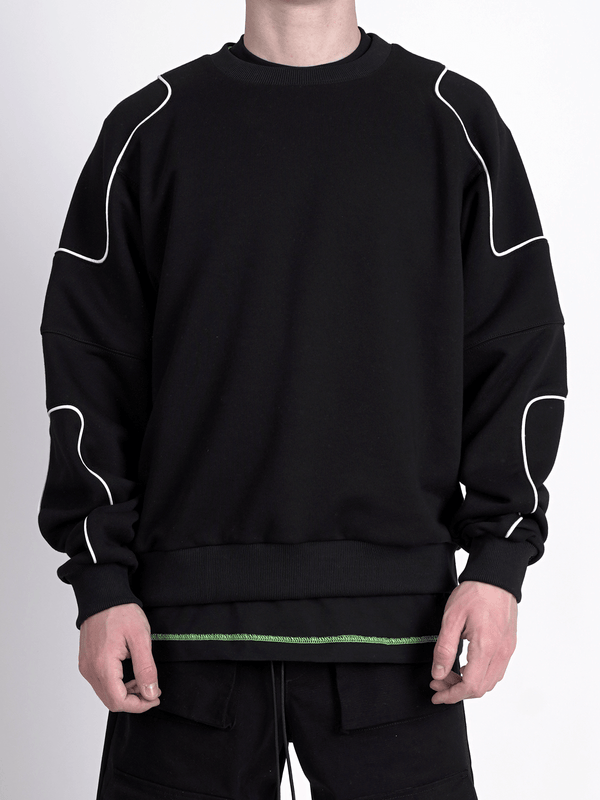 Patch Sweater - Black