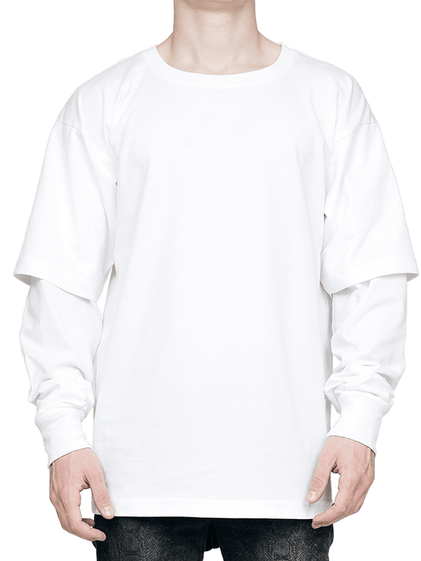 Layered Tee - White - lakenzie