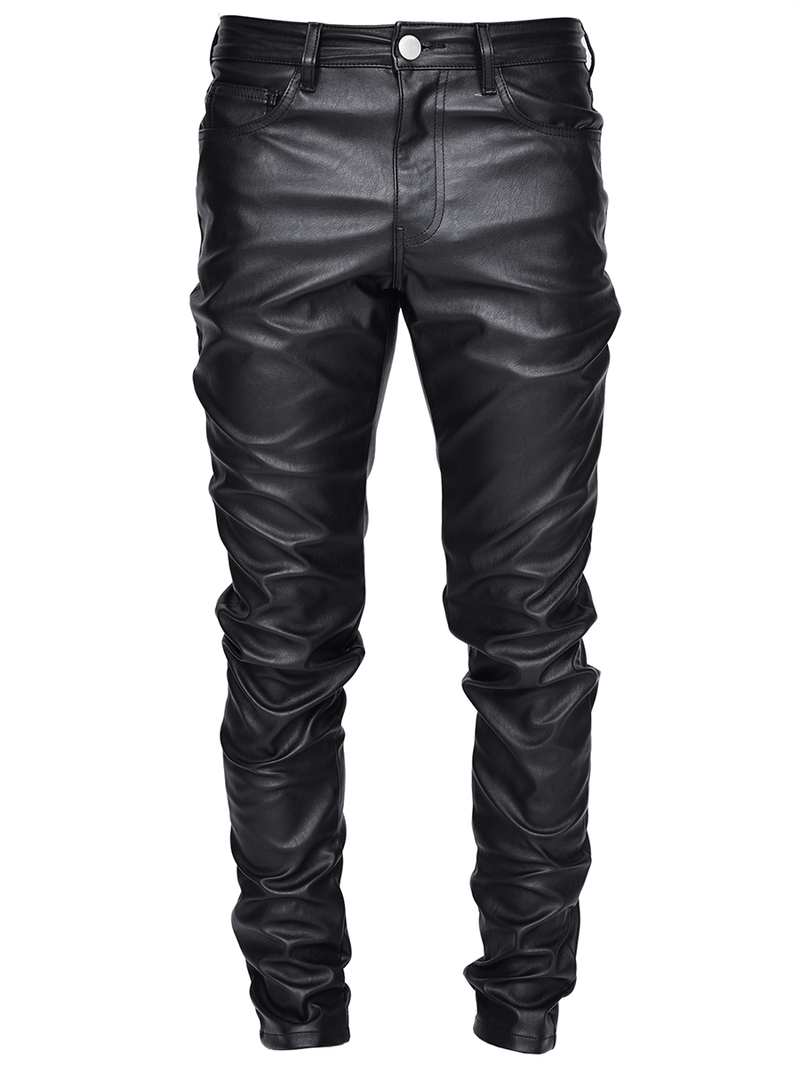 Leather Skinny Denim