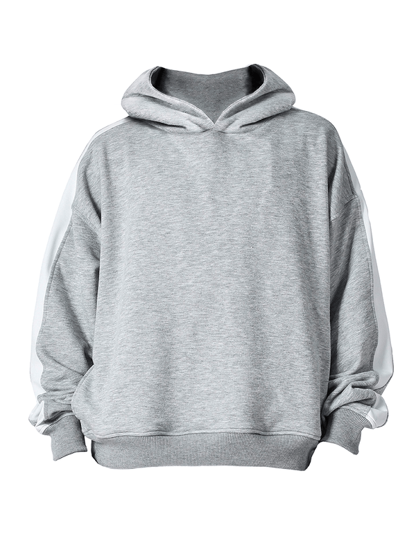 Oversized Track Hoodie - Heather Grey - lakenzie