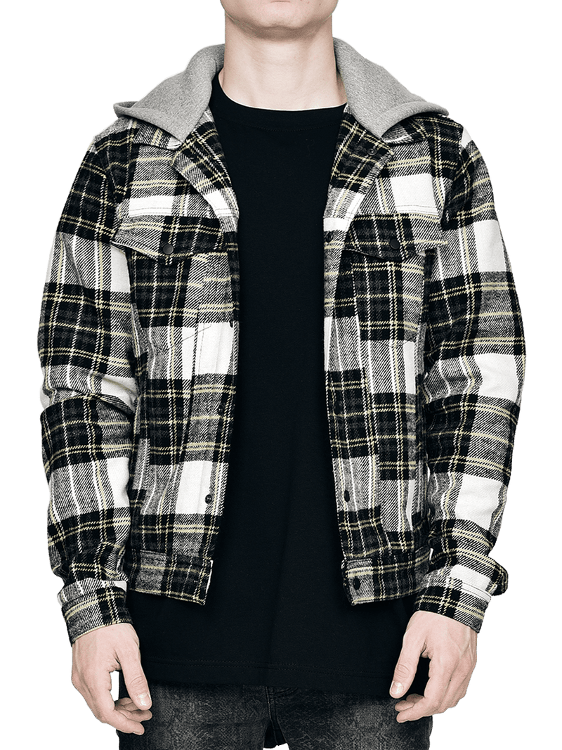 Flannel with Hood - Yellow
