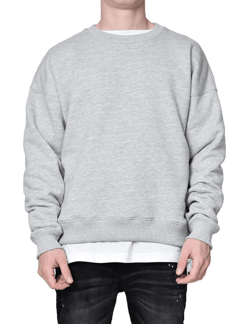 Crew Sweater - Heather Grey - lakenzie