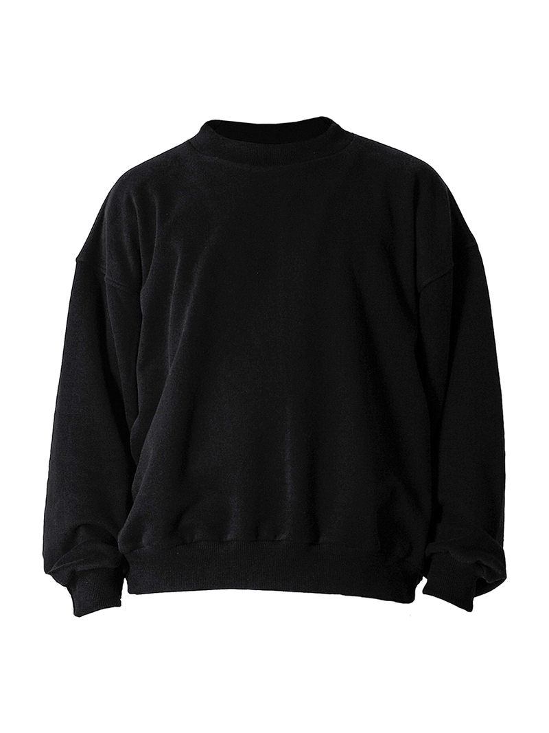 Oversized Sweater - Black - lakenzie