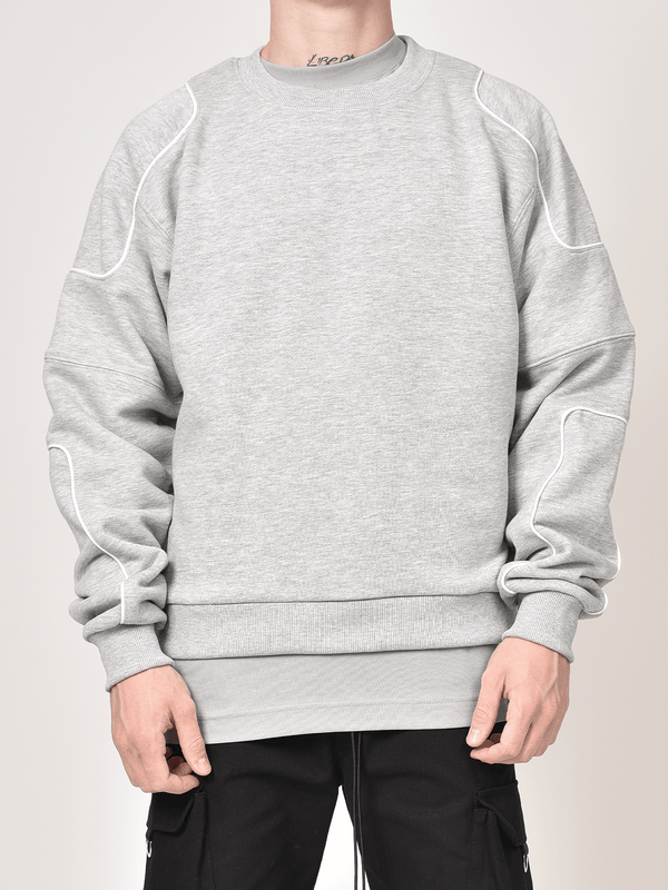 Patch Sweater - Heather Grey