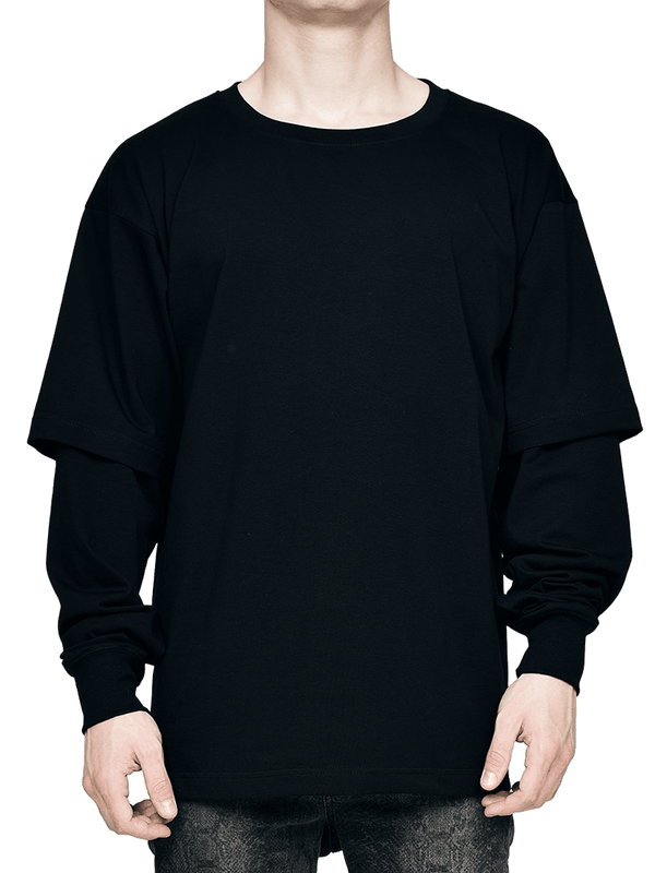 Layered Tee - Black - lakenzie