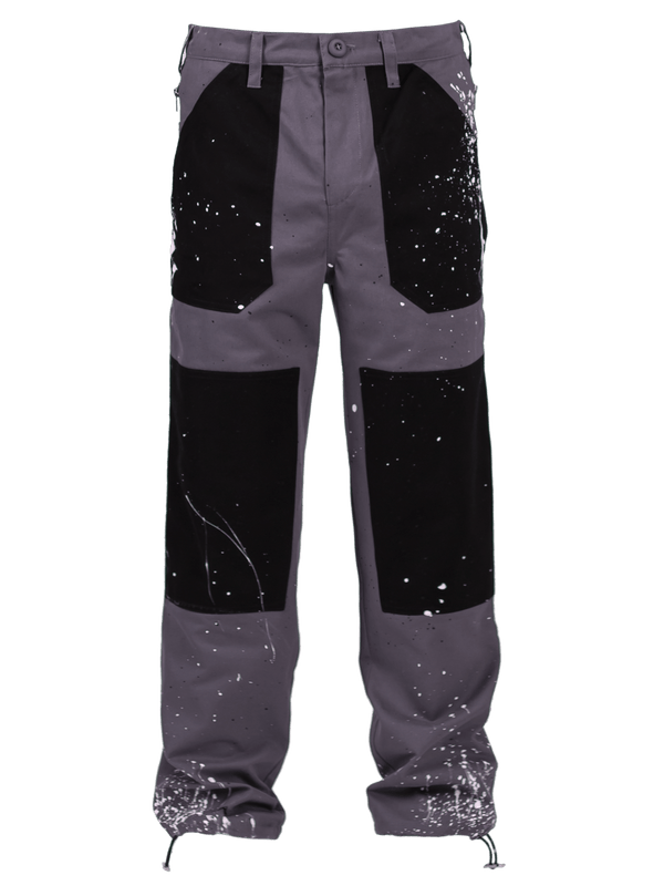 Splatter Industrial Pants - Grey