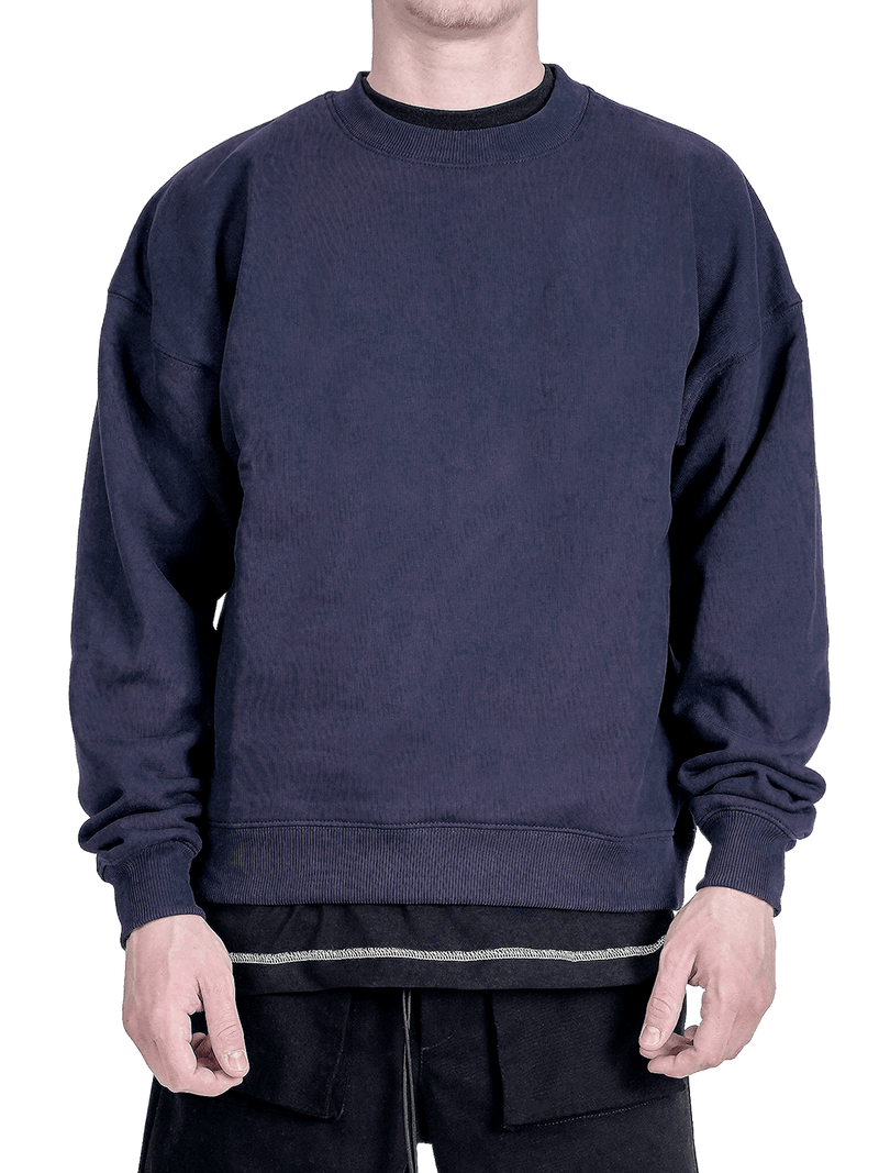 Crew Sweater - Navy - lakenzie