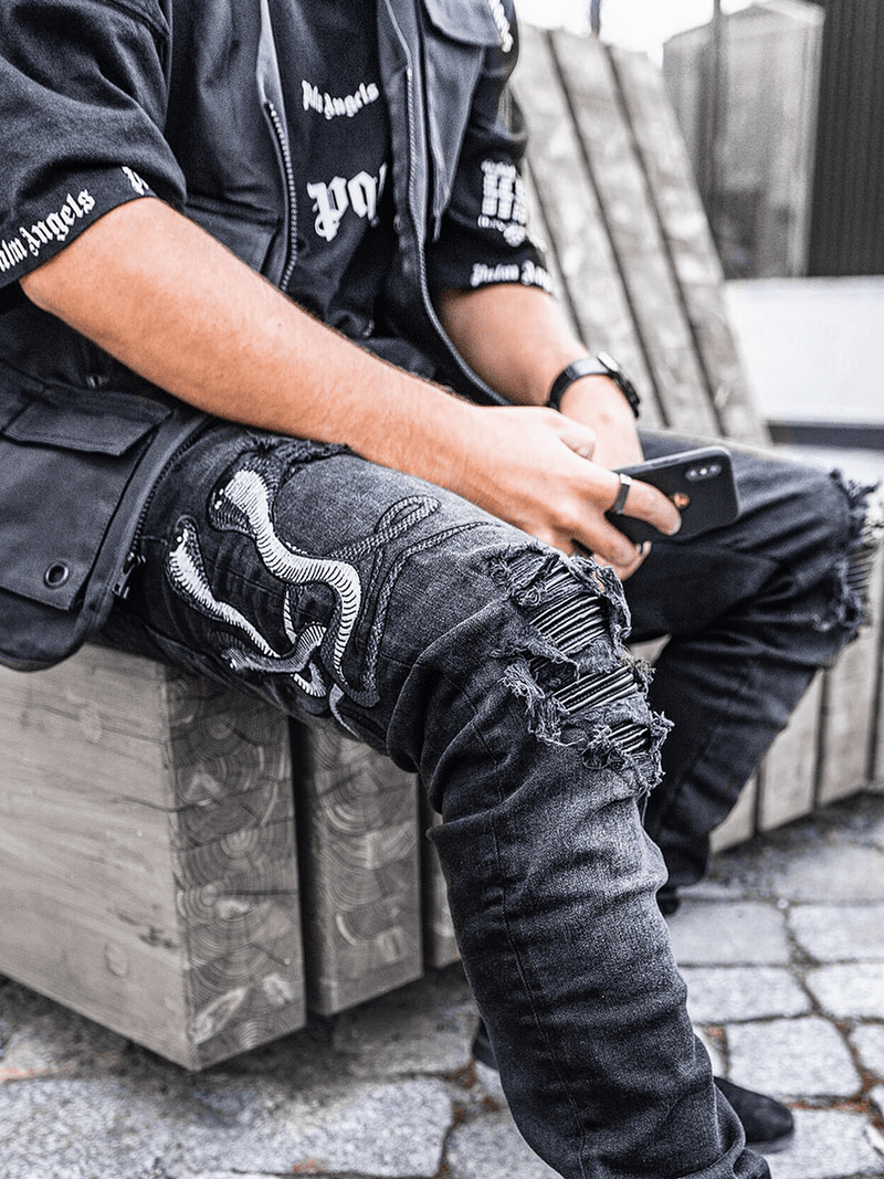 Snake Denim - Black
