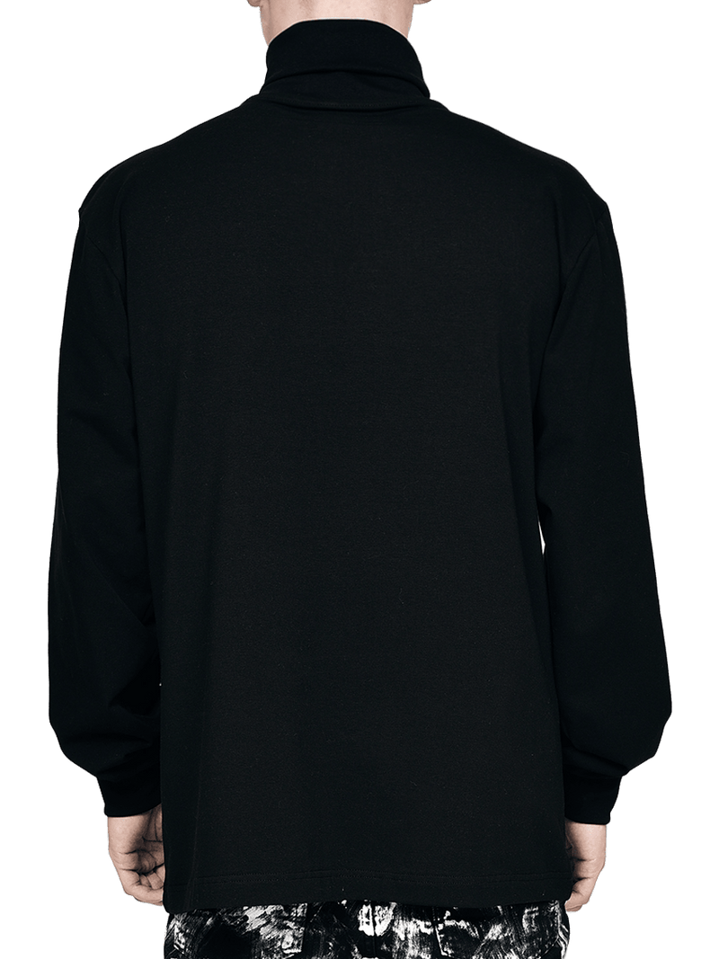 Turtle Neck Tee - Black