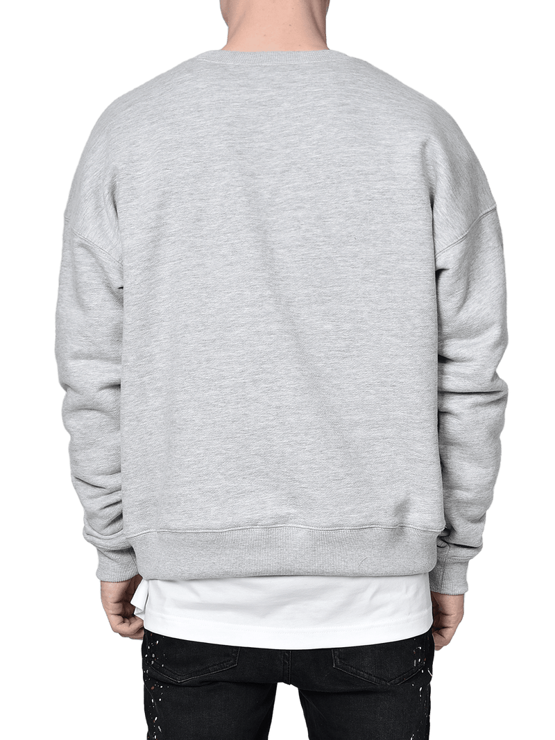 Crew Sweater - Heather Grey