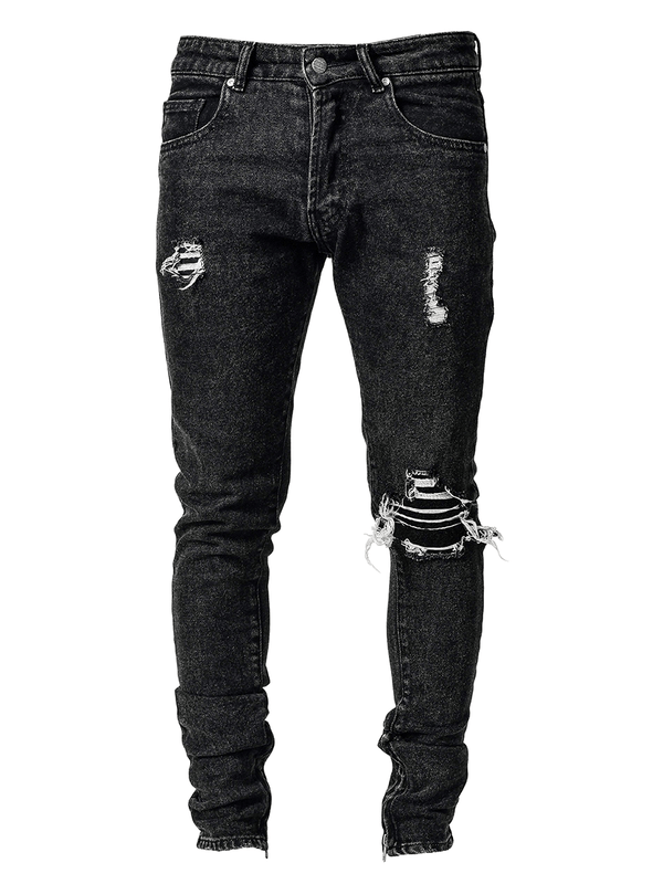 One Knee Blowout Denim - Black - lakenzie
