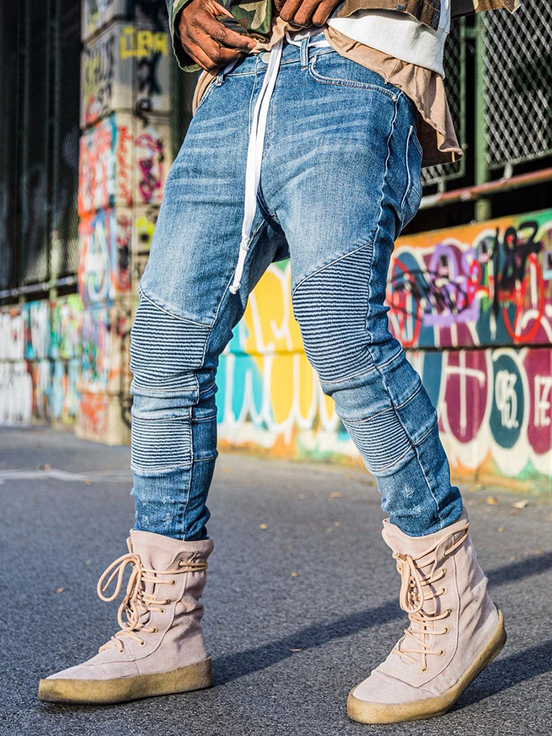Biker Denim - Mid Blue