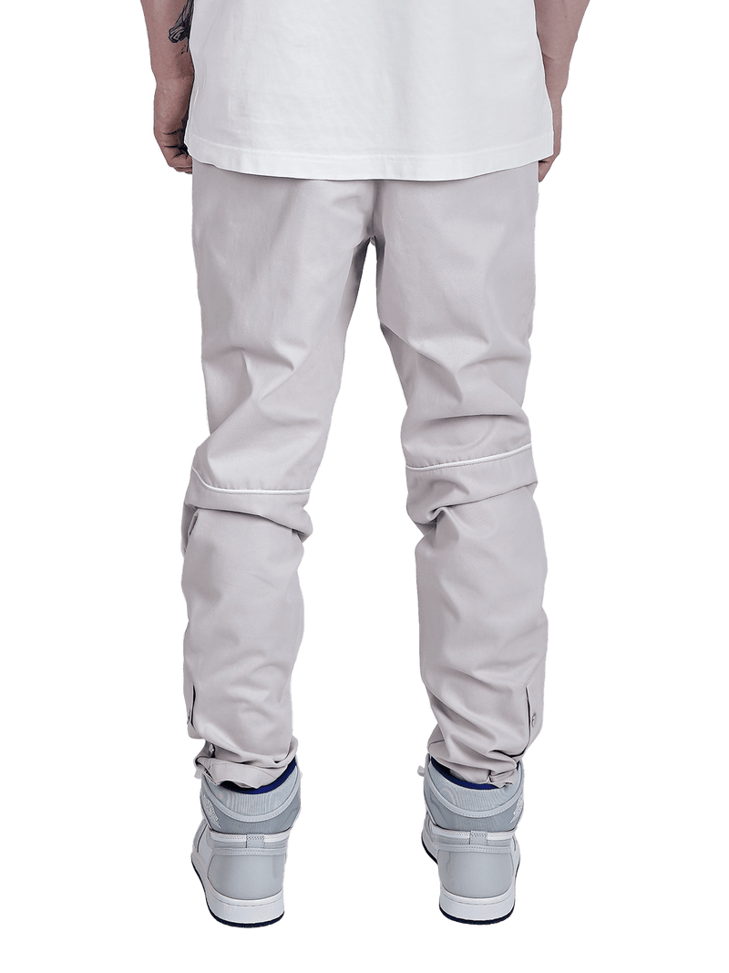 Knee Patch Pants - Beige