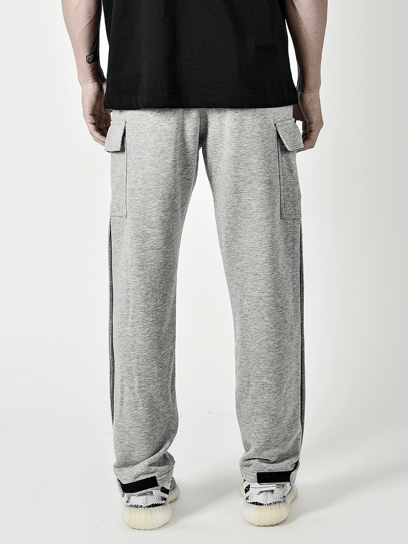 Snap Sweatpants - Heather Grey