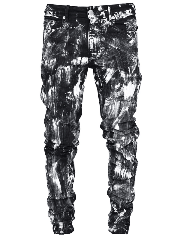 Extreme Paint Splatter Denim