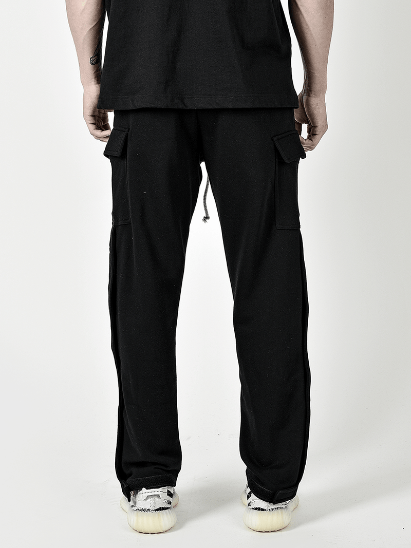 Snap Sweatpants - Black - lakenzie